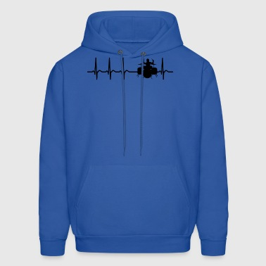 Heartbeat Drums Drummer Sticks Cool Funny Gift - Men's Hoodie