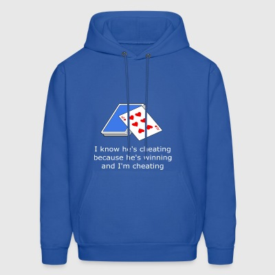 Cheating at cards, poker - Men's Hoodie