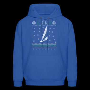 Windsurfing Ugly Christmas Sweater Gift - Men's Hoodie