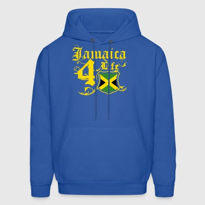Proudly Jamaican for life flag tee shirt - Men's Hoodie