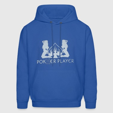 2 SPADED POKHER PLAYER - Men's Hoodie