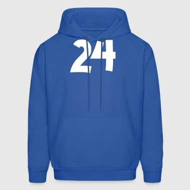 24 Funny Number T Shirt - Men's Hoodie