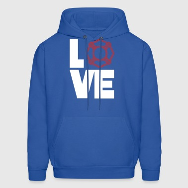 Love For The Fire Department Funny Symbol - Men's Hoodie