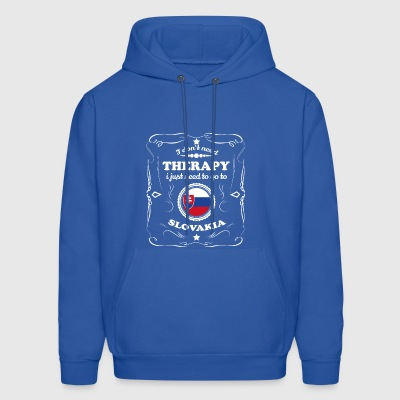DON T NEED THERAPIE WANT GO SLOVAKIA - Men's Hoodie