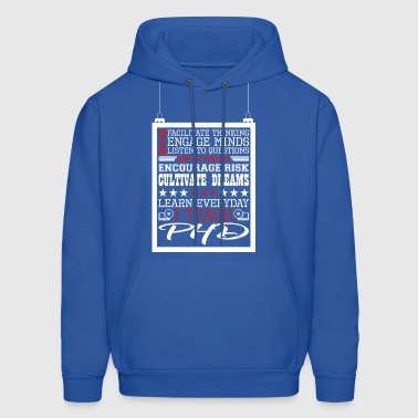 I Engage Minds Learn Everyday I Teach Phd - Men's Hoodie