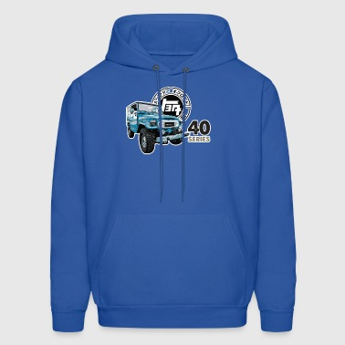 BLUE TOYOTA FJ40 WITH RETRO LOGO - Men's Hoodie