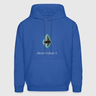 ethereum decentralize it ethereum eth blockchain - Men's Hoodie