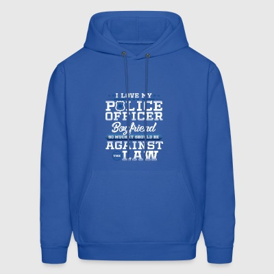 Love Police Boyfriend Law Enforcement Apparel - Men's Hoodie