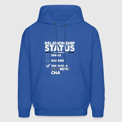 Relationship status single married taken by a psyc - Men's Hoodie