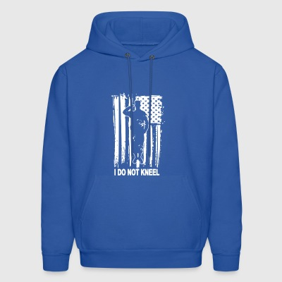 I Don t Kneel American Flag USA Pride Political Pa - Men's Hoodie