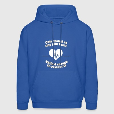 cute enough to stop your heart skilled enough to r - Men's Hoodie