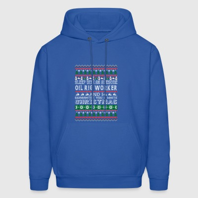 Sleep With Awesome Oil Rig Worker White Christmas - Men's Hoodie