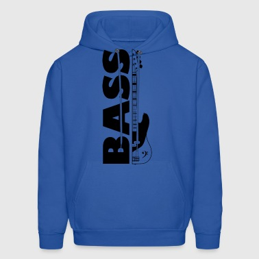 Half bass guitar and the word bass on the side - Men's Hoodie