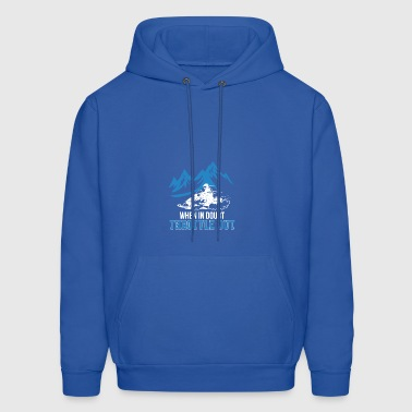 When In Doubt Throttle Out Snowmobile - Men's Hoodie
