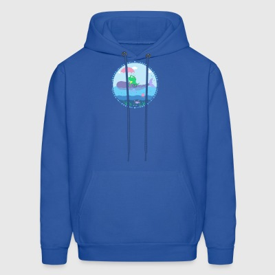Monster with whale - Men's Hoodie