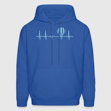 Hot Air Balloon Heartbeat Shirt Cool Funny Gift - Men's Hoodie