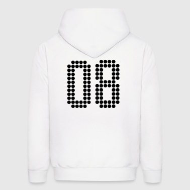 08, Numbers, Football Numbers, Jersey Numbers - Men's Hoodie