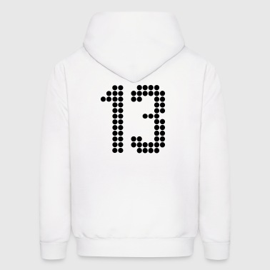 13, Numbers, Football Numbers, Jersey Numbers - Men's Hoodie