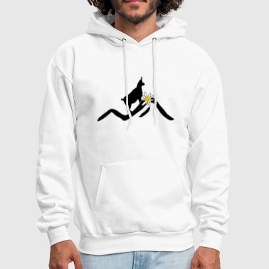 mountains, mountains - alps, ibex - Men's Hoodie