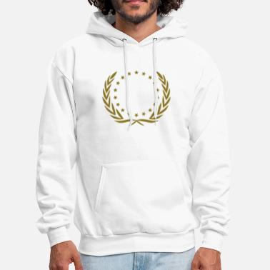 Wreath winner wreath star, team, birthday, best, champion - Men's Hoodie