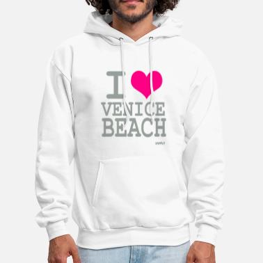 Beach i love venice beach by wam - Men's Hoodie
