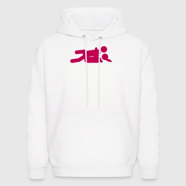 missionary position sex icon 202 - Men's Hoodie