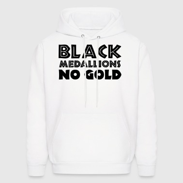 BLACK MEDALLIONS NO GOLD - Men's Hoodie