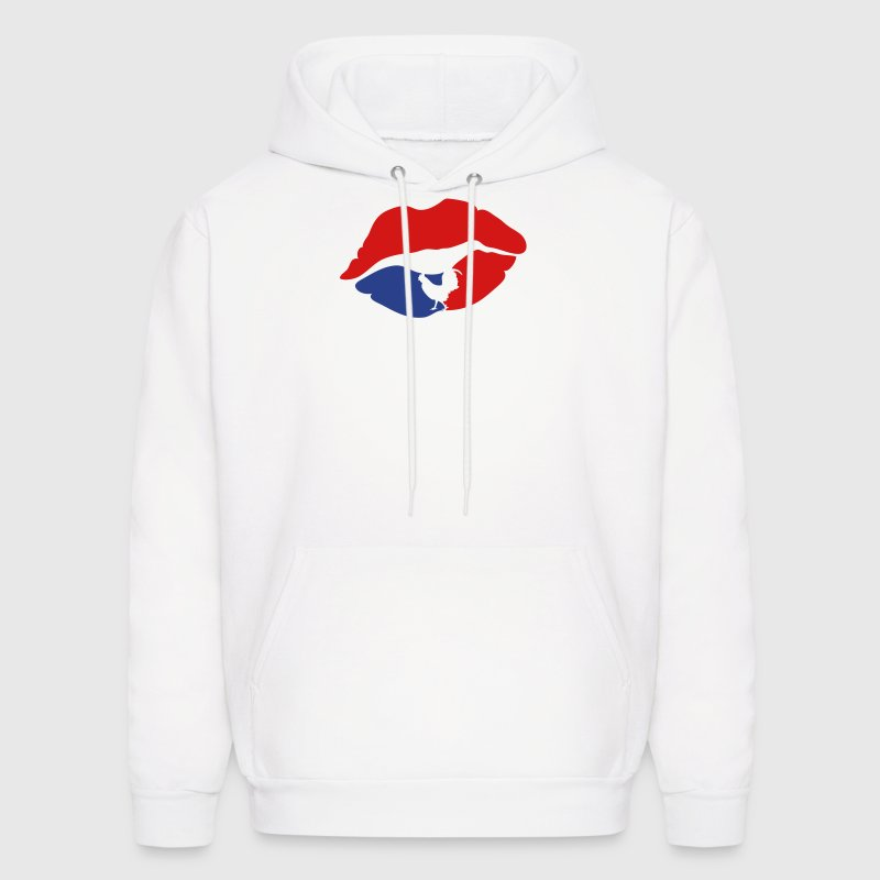mouth lip kiss french cock - Men's Hoodie