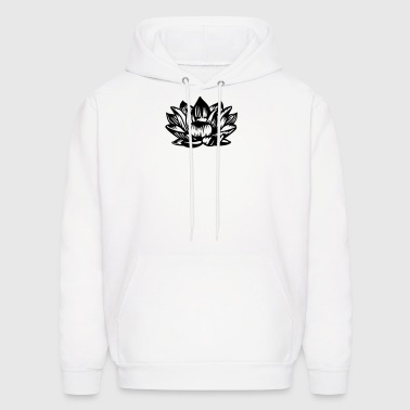 Lotus flower black - Men's Hoodie