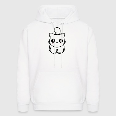 Kitty cat transparent - Men's Hoodie