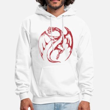 Red Dragon Dragon VECTOR - Men's Hoodie