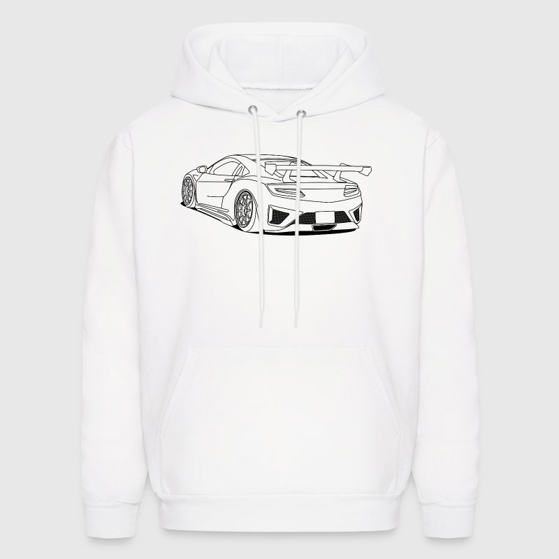 cool car outlines - Men's Hoodie