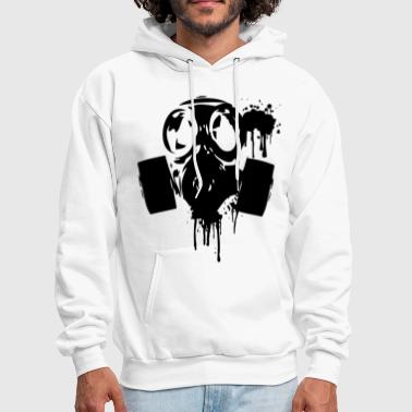 gas_mask_paint2 - Men's Hoodie