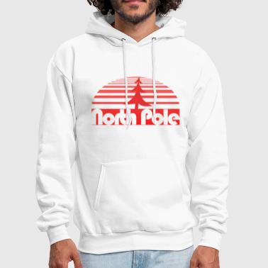 North Pole retro xmas - Men's Hoodie