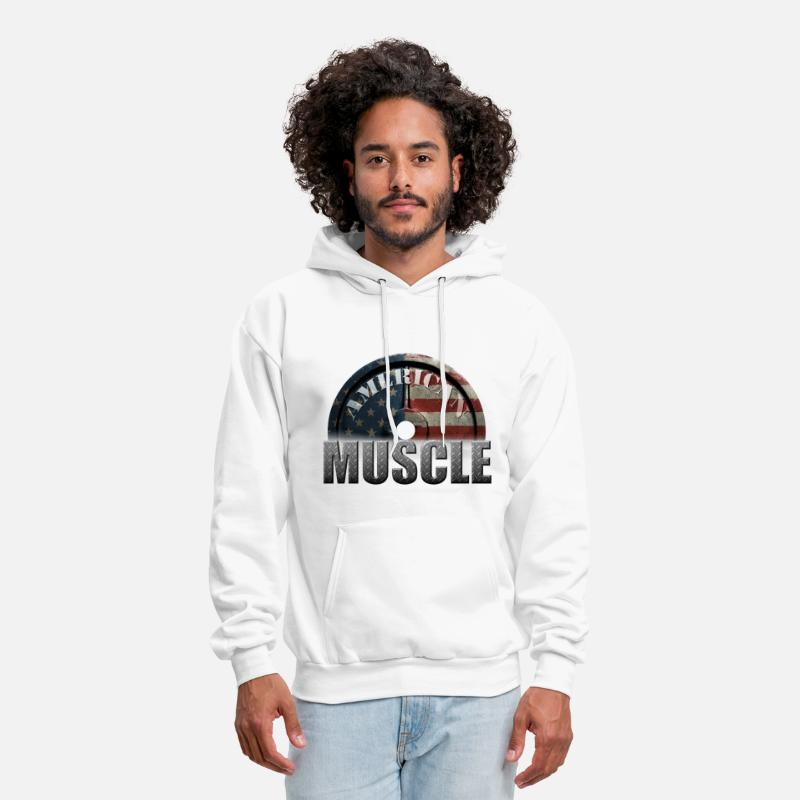 Funny Crossfit Shirt Hoodies & Sweatshirts - AMERICAN MUSCLE - Men's Hoodie white