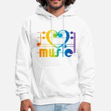 Hip Hop I LOVE MUSIC - Men's Hoodie