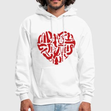 Kinky Sex Tools Heart - Men's Hoodie