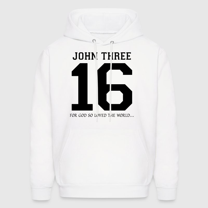 Christian John Three 16 God So Loved The World - Men's Hoodie