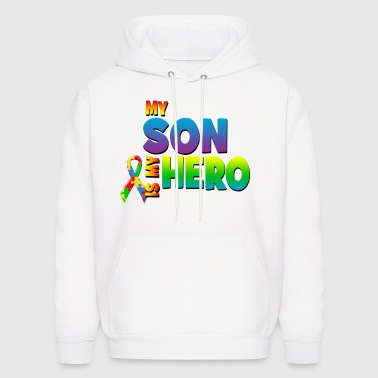Autism Awareness My Son Is My Hero - Men's Hoodie