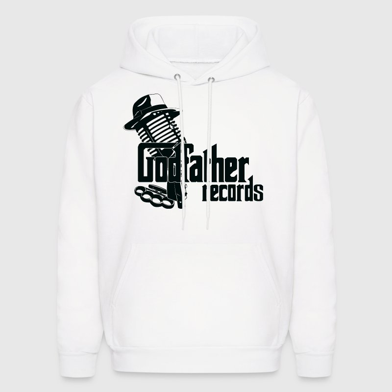 Godfather Records Pullover White Hoodie - Men's Hoodie