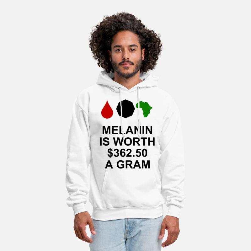 Grams Hoodies & Sweatshirts - Melanin is worth $362.50 a gram - Men's Hoodie white