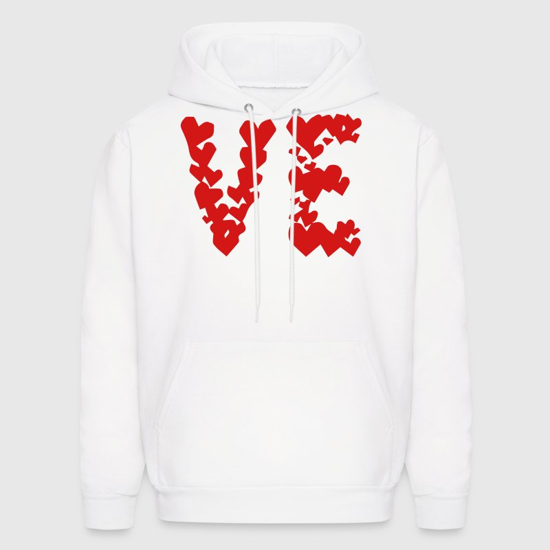 LOVE couple pair partner Heart Valentines Day gift - Men's Hoodie