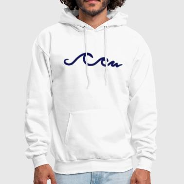 Ocean waves, wave, ocean - Men's Hoodie