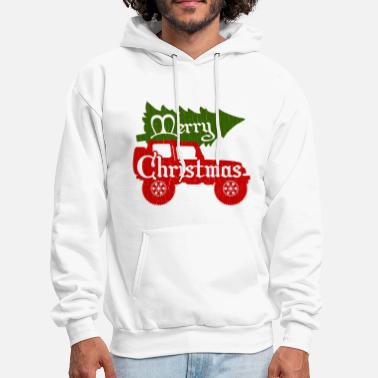 4x4 Merry Christmas 4x4 (vintage look) - Men's Hoodie