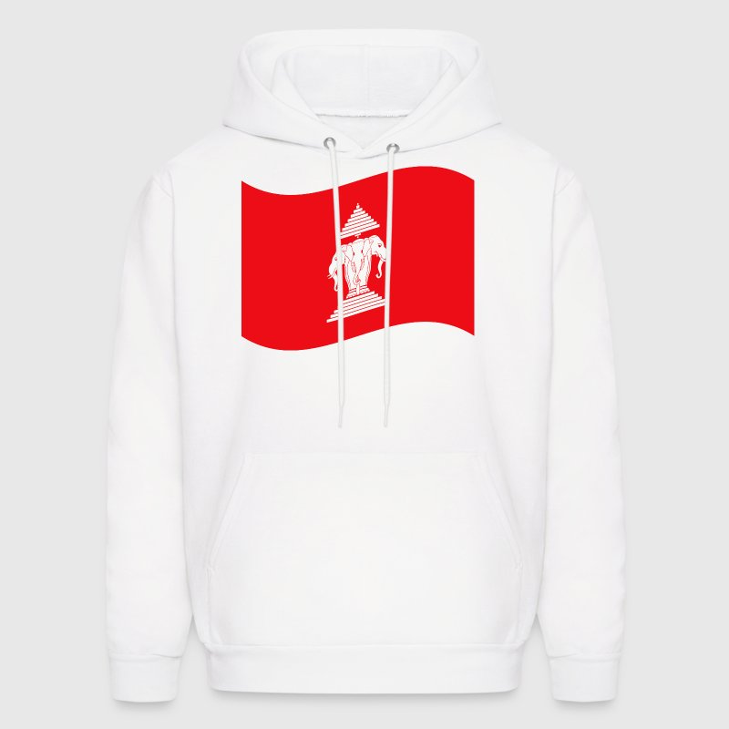 Laos Three Headed Elephant Flag Wave - Men's Hoodie