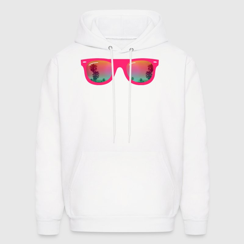 sunglasses palms and beach - Men's Hoodie