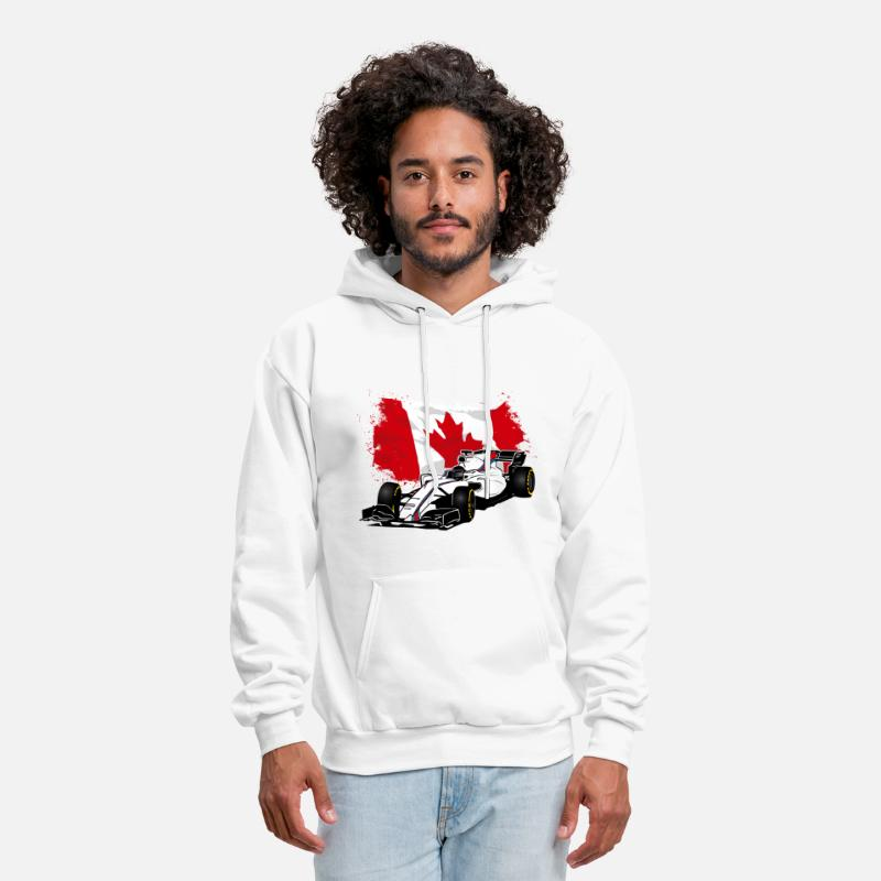 Formula Hoodies & Sweatshirts - Formula One - Formula 1 - Canada Flag - Men's Hoodie white