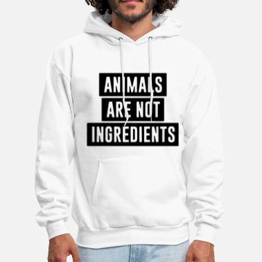animals are not ingredients cow t shirts - Men's Hoodie