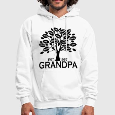 Family Custom Grandpa or Grandma Family Tree with all Gra - Men's Hoodie