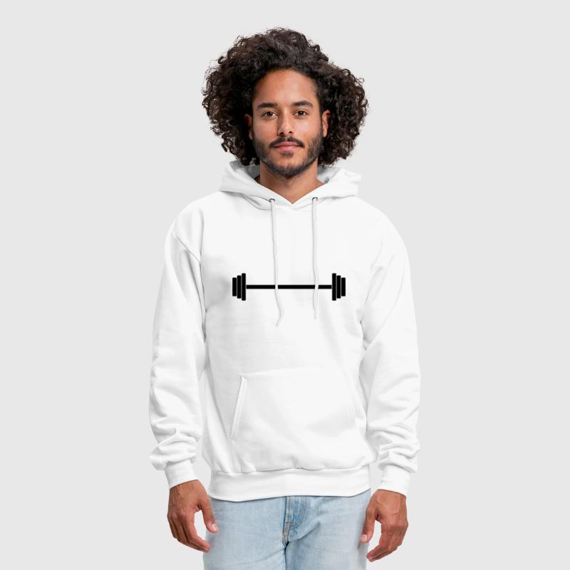 Gym Dumbbell (long) Barbell Weight Athletics 1c - Men's Hoodie